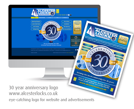 Silver Lining Graphics : Alcester Locks website on desktop, tablet and mobile phone